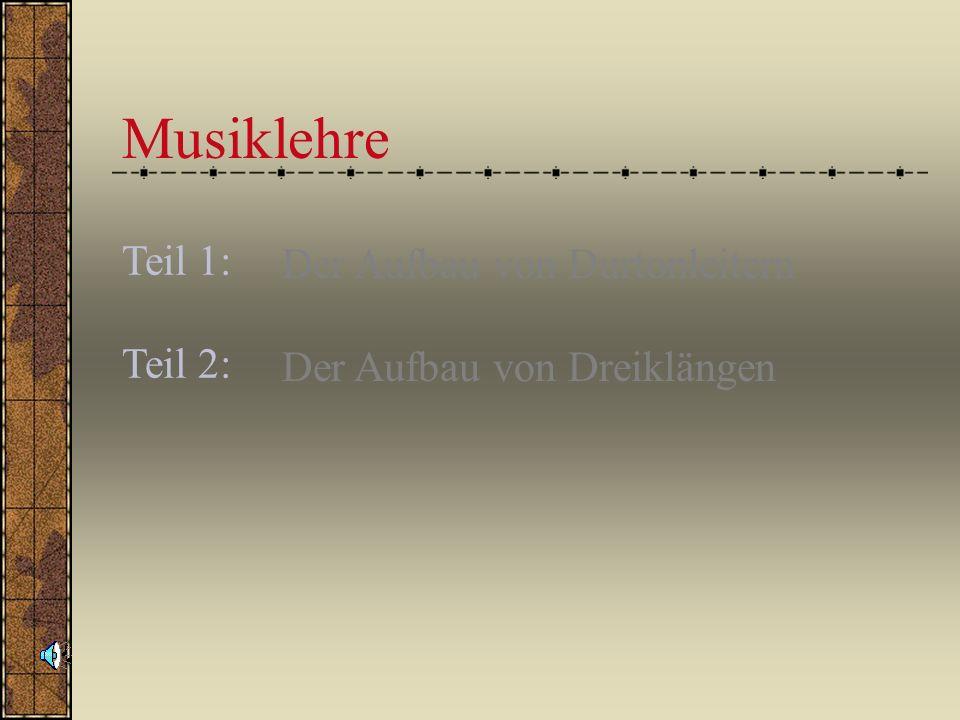 Musiklehre Teil 1: Teil 2: Der Aufbau von Durtonleitern