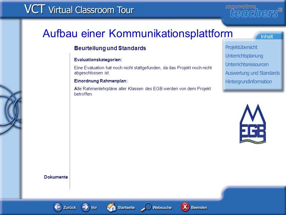 Aufbau einer Kommunikationsplattform