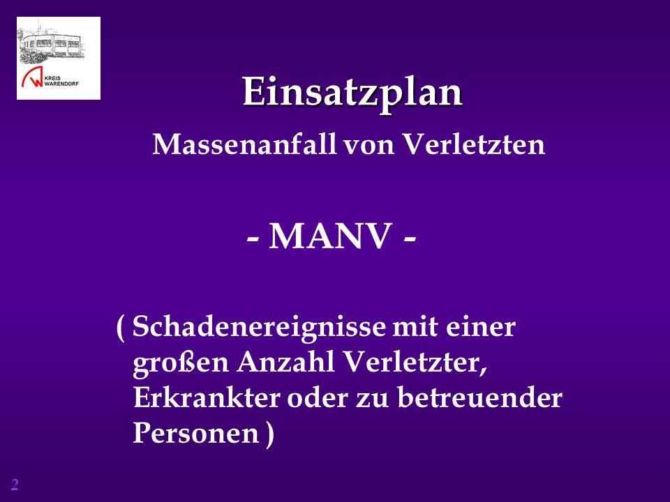 Einsatzplan - MANV - Massenanfall von Verletzten