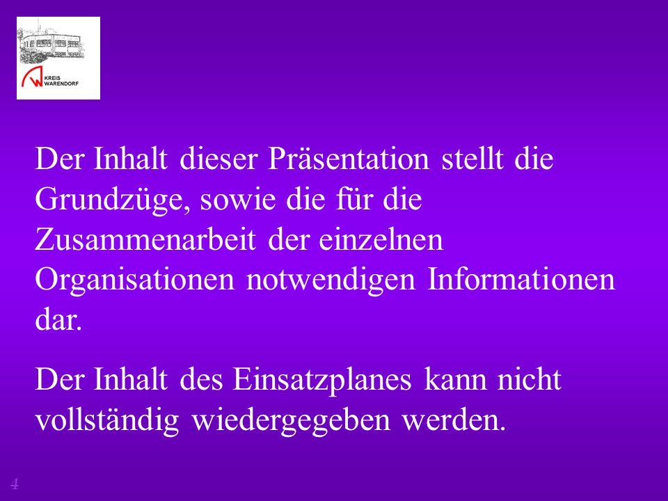 Der Inhalt dieser Präsentation stellt die Grundzüge, sowie die für die Zusammenarbeit der einzelnen Organisationen notwendigen Informationen dar.