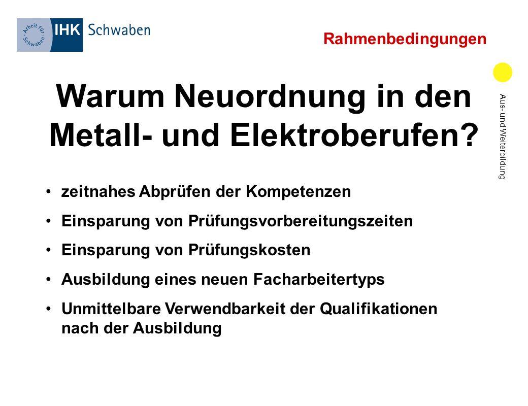 Warum Neuordnung in den Metall- und Elektroberufen