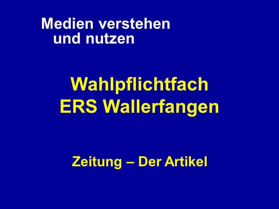 Wahlpflichtfach ERS Wallerfangen
