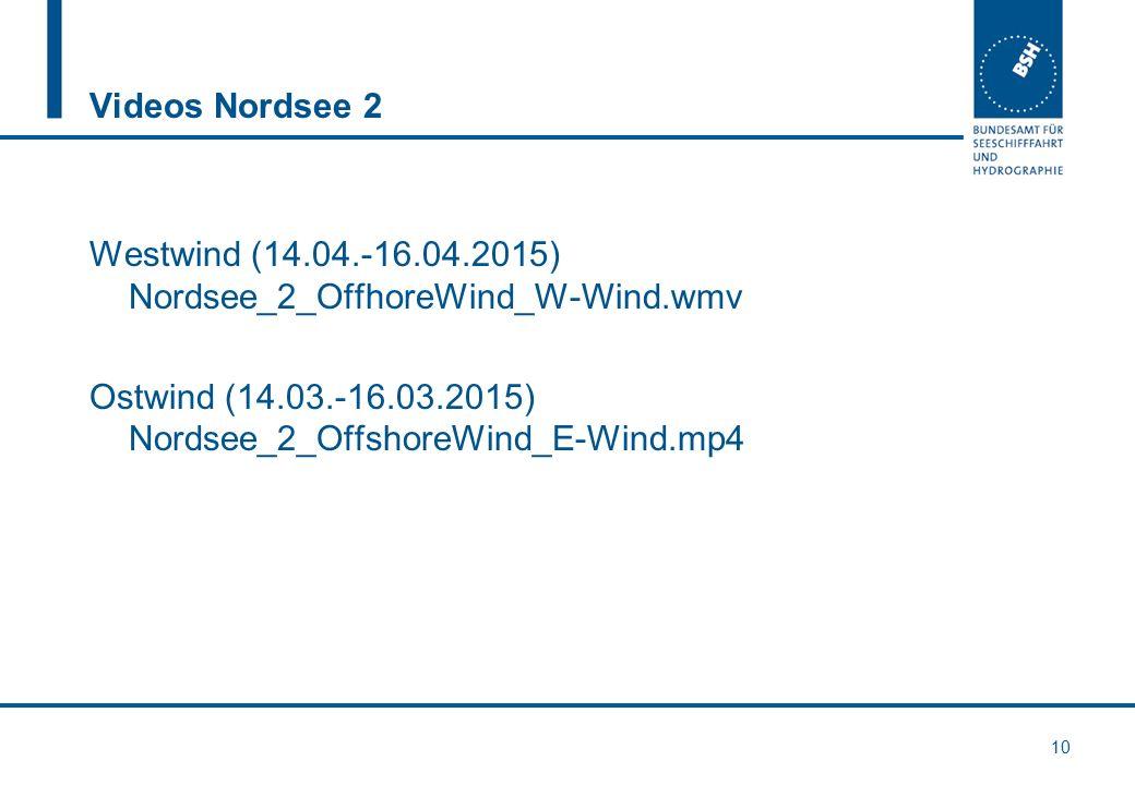 Videos Nordsee 2 Westwind (14.04.-16.04.2015) Nordsee_2_OffhoreWind_W-Wind.wmv Ostwind (14.03.-16.03.2015) Nordsee_2_OffshoreWind_E-Wind.mp4