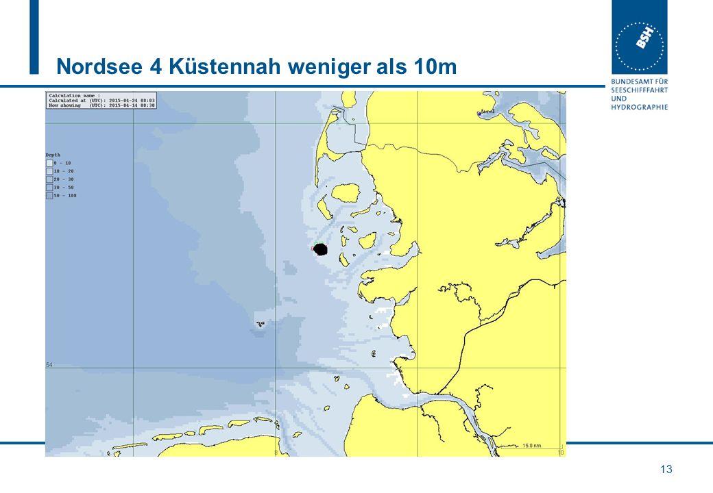 Nordsee 4 Küstennah weniger als 10m