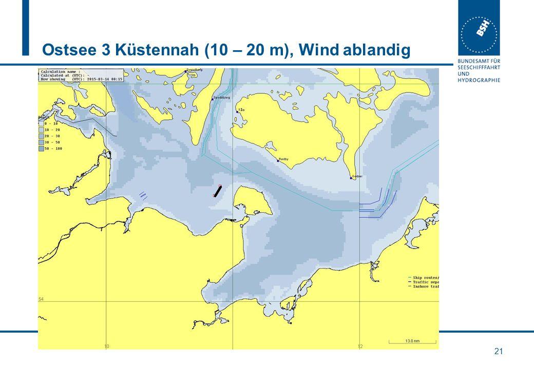 Ostsee 3 Küstennah (10 – 20 m), Wind ablandig