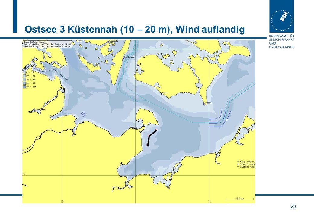 Ostsee 3 Küstennah (10 – 20 m), Wind auflandig