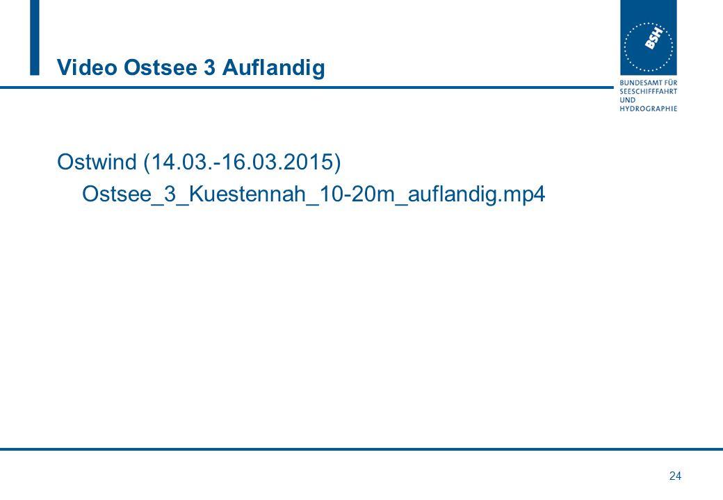 Video Ostsee 3 Auflandig