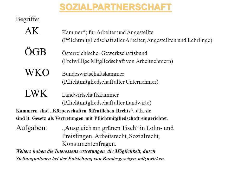 WKO Bundeswirtschaftskammer (Pflichtmitgliedschaft aller Unternehmer)