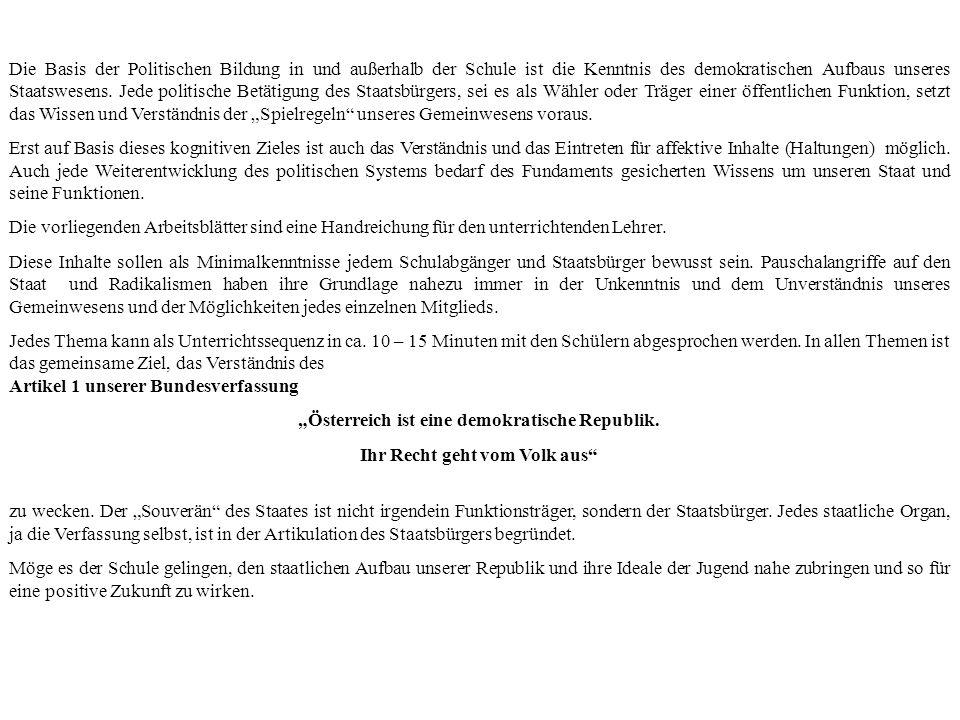 POLITISCHE BILDUNG GRUNDKENNTNISSE ÜBER AUFBAU UND WESENTLICHE - ppt ...