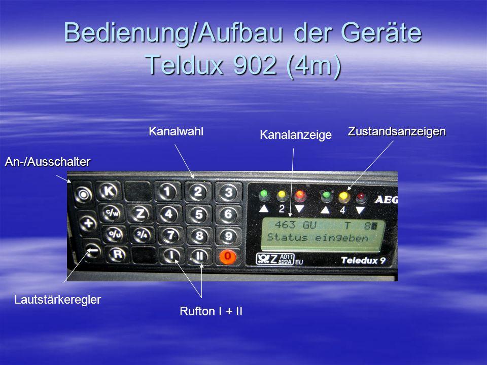Bedienung/Aufbau der Geräte Teldux 902 (4m)