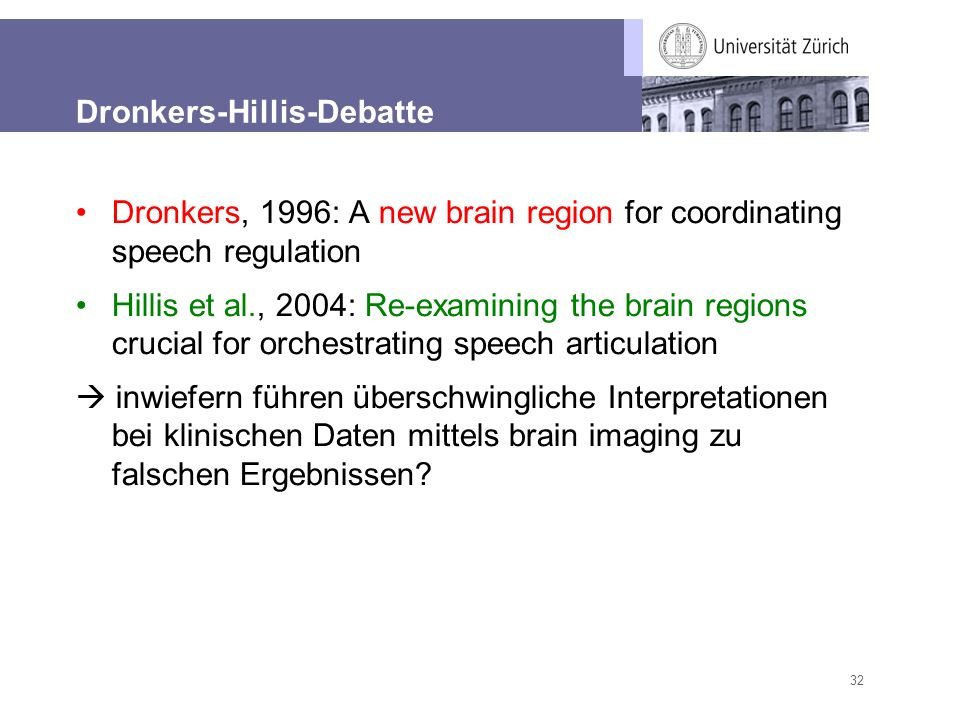 Dronkers-Hillis-Debatte