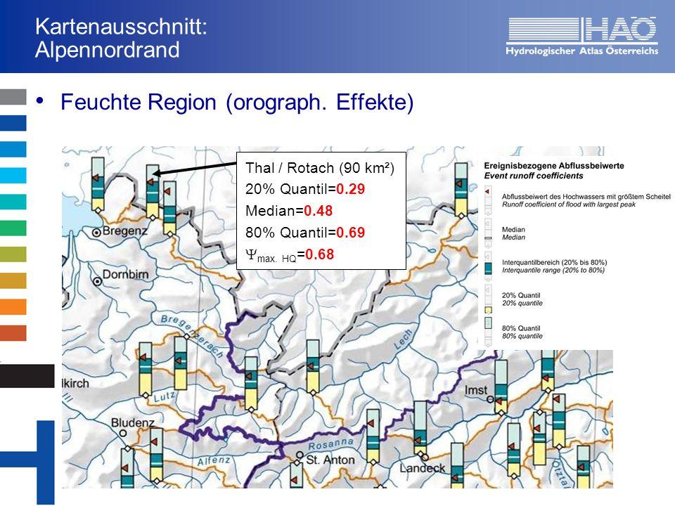 Kartenausschnitt: Alpennordrand