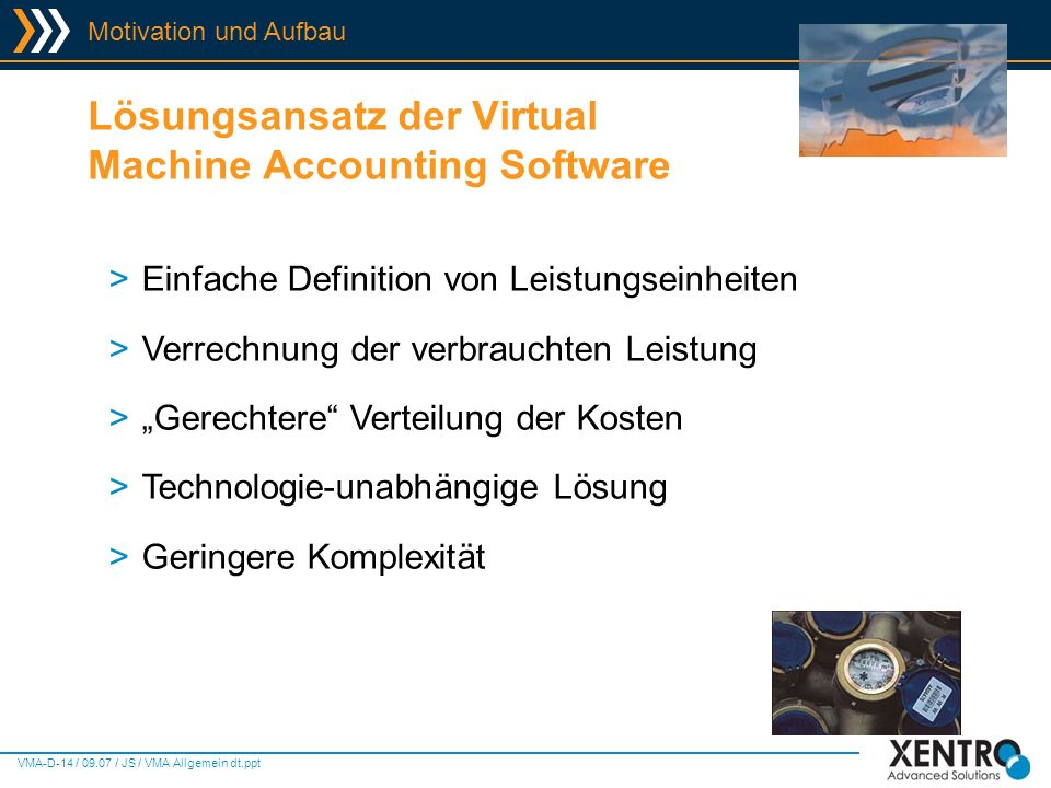Lösungsansatz der Virtual Machine Accounting Software