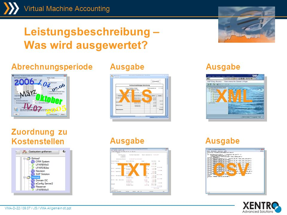 XLS XML TXT CSV Leistungsbeschreibung – Was wird ausgewertet