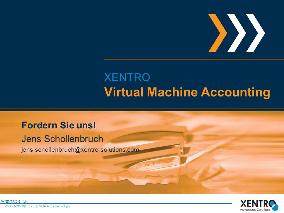 Virtual Machine Accounting