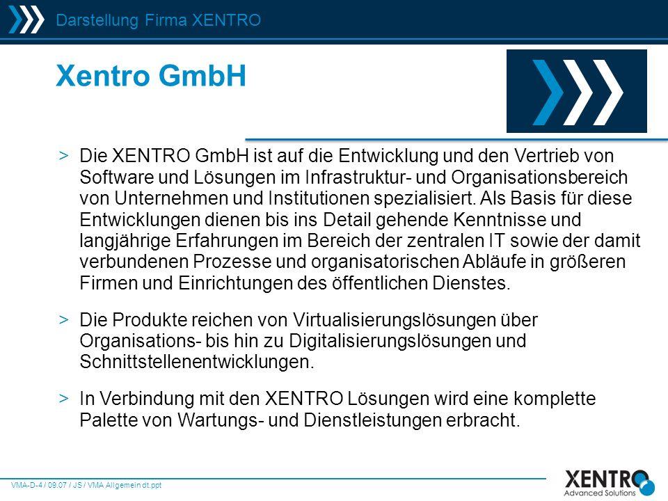Darstellung Firma XENTRO
