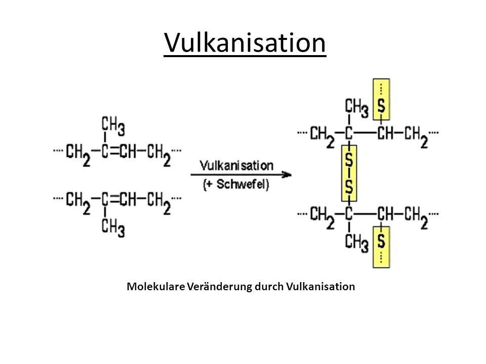 Vulkanisation Molekulare Veränderung durch Vulkanisation