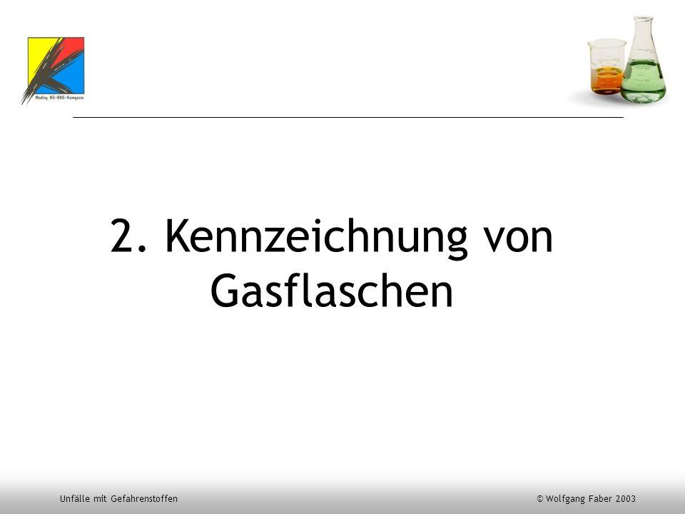 2. Kennzeichnung von Gasflaschen