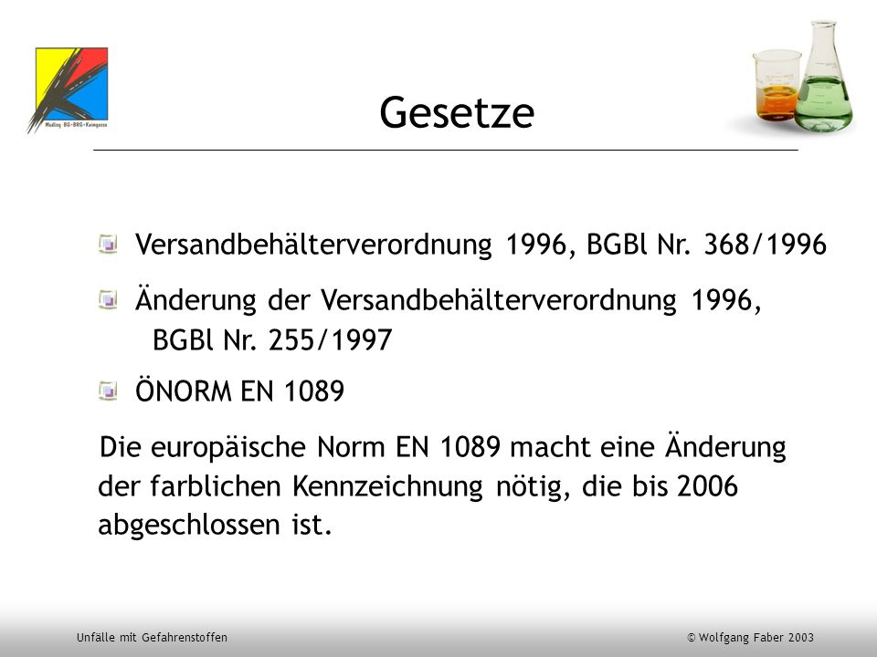 Gesetze Versandbehälterverordnung 1996, BGBl Nr. 368/1996