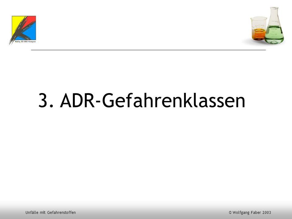 3. ADR-Gefahrenklassen