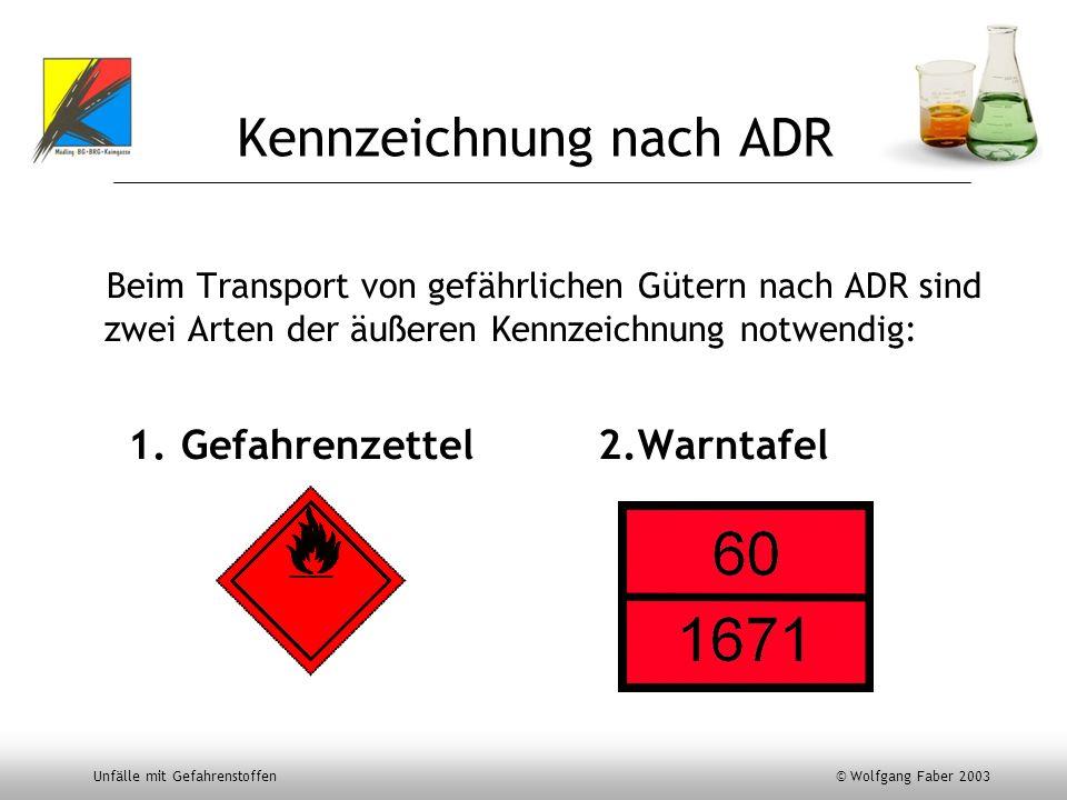 Kennzeichnung nach ADR