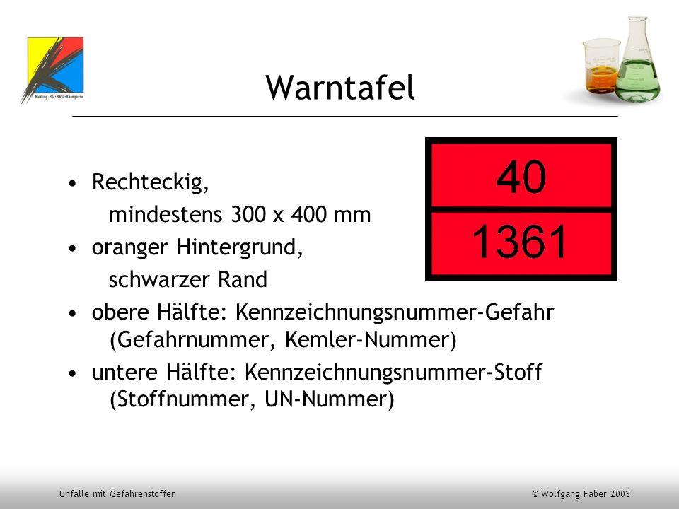 Warntafel Rechteckig, mindestens 300 x 400 mm oranger Hintergrund,