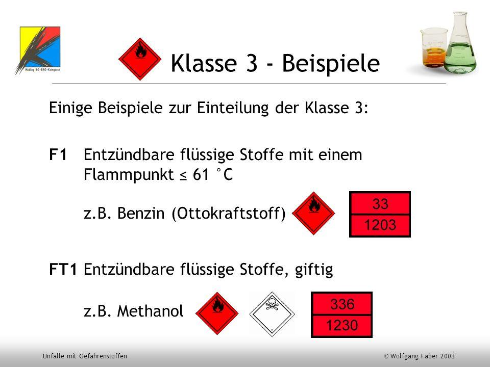 Klasse 3 - Beispiele Einige Beispiele zur Einteilung der Klasse 3: