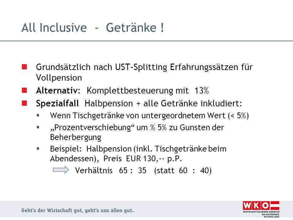 All Inclusive - Getränke !