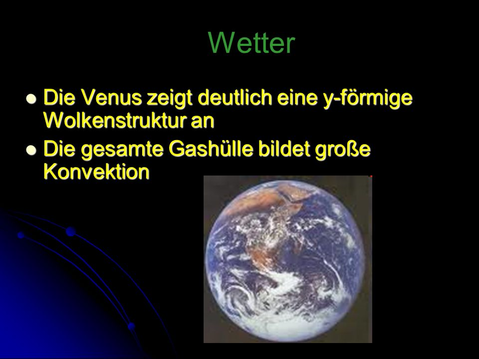 Wetter Die Venus zeigt deutlich eine y-förmige Wolkenstruktur an