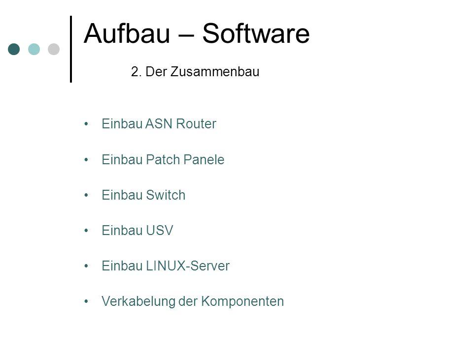 Aufbau – Software 2. Der Zusammenbau