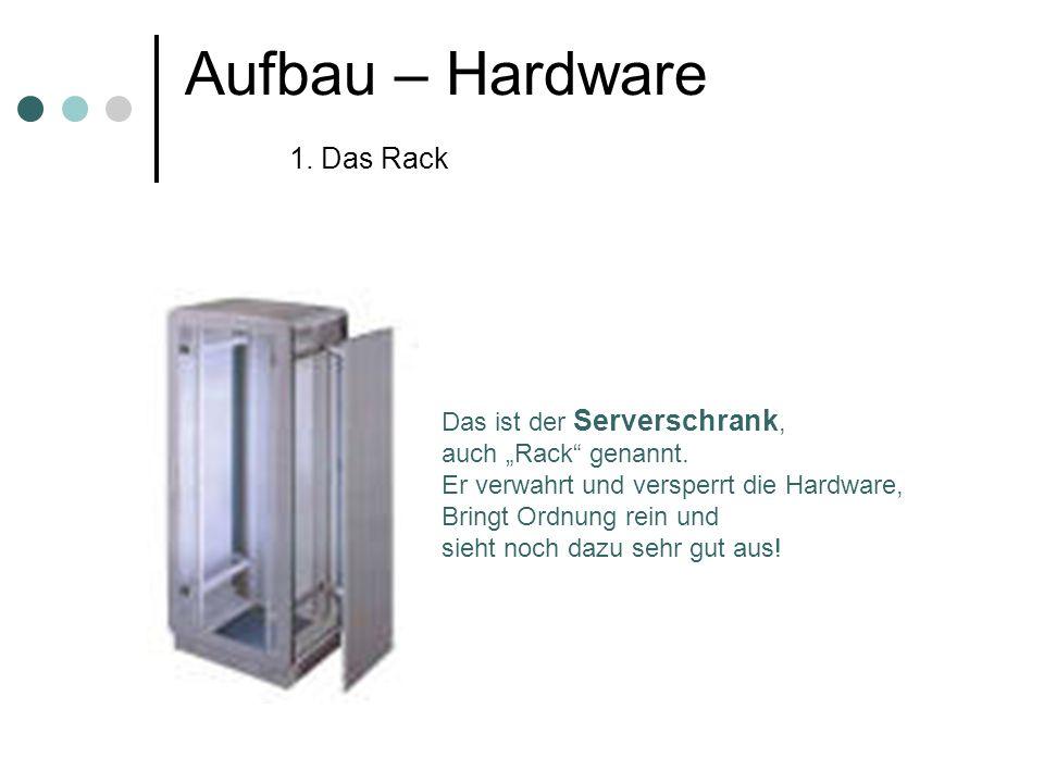 Aufbau – Hardware 1. Das Rack