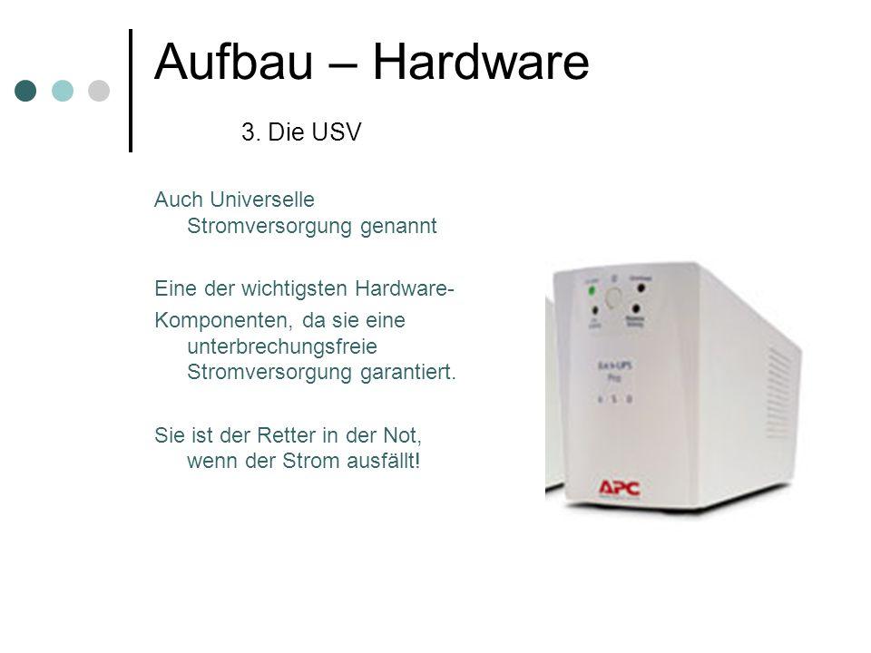Aufbau – Hardware 3. Die USV