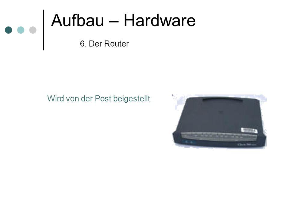Aufbau – Hardware 6. Der Router