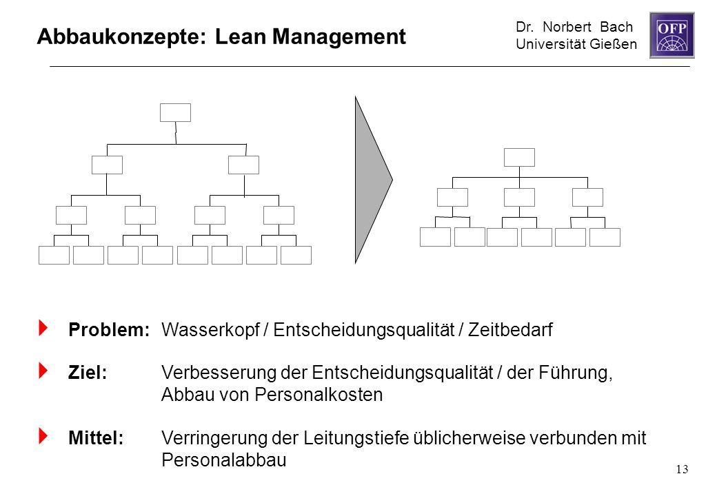 Abbaukonzepte: Lean Management