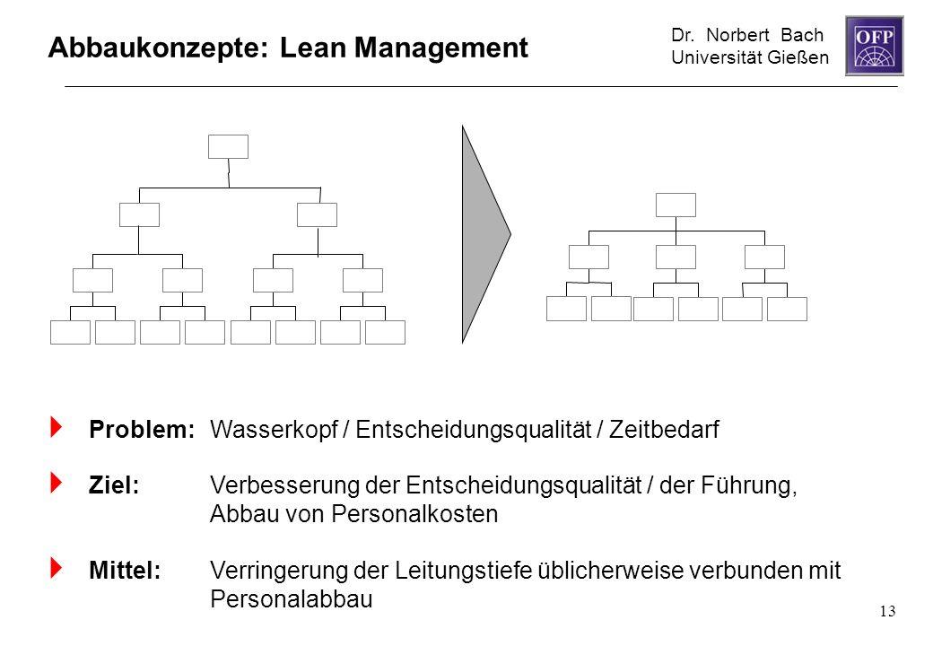 Abbaukonzepte: Lean Management