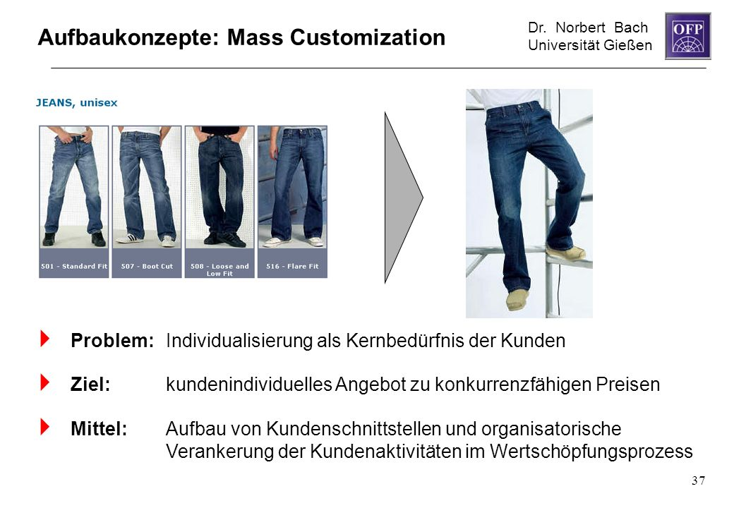 Aufbaukonzepte: Mass Customization