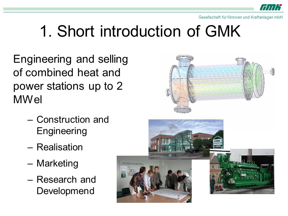 1. Short introduction of GMK