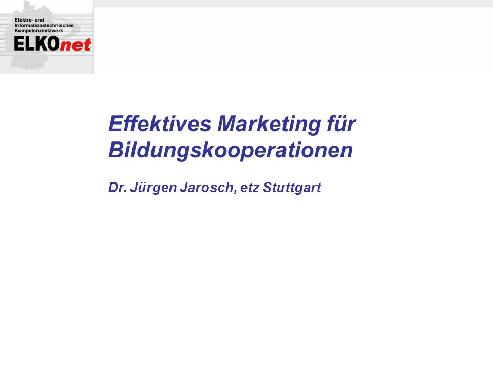 Effektives Marketing für Bildungskooperationen