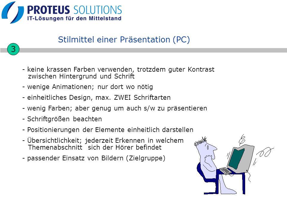 Stilmittel einer Präsentation (PC)
