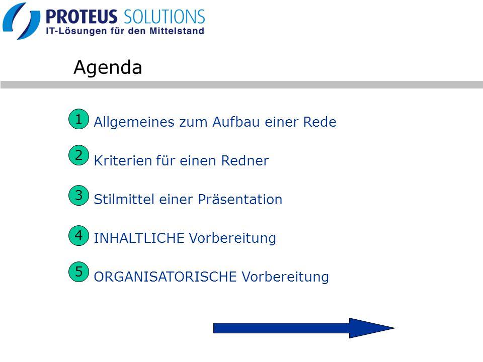 Agenda 1 Allgemeines zum Aufbau einer Rede Kriterien für einen Redner