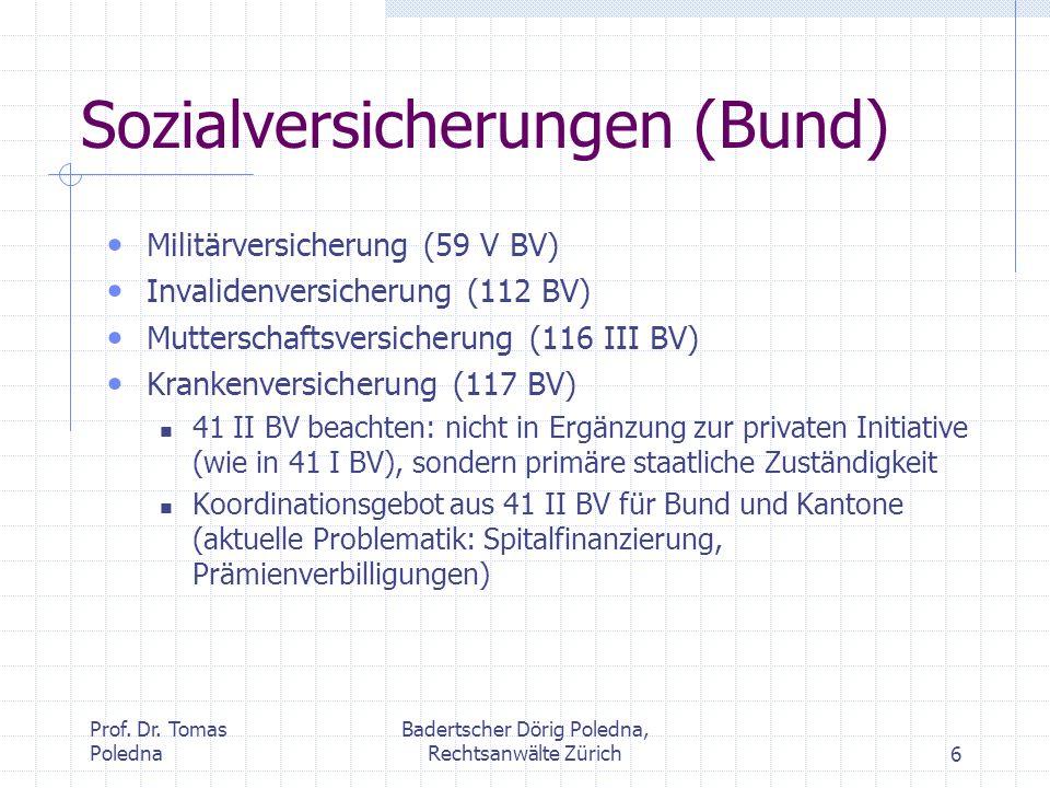 Sozialversicherungen (Bund)