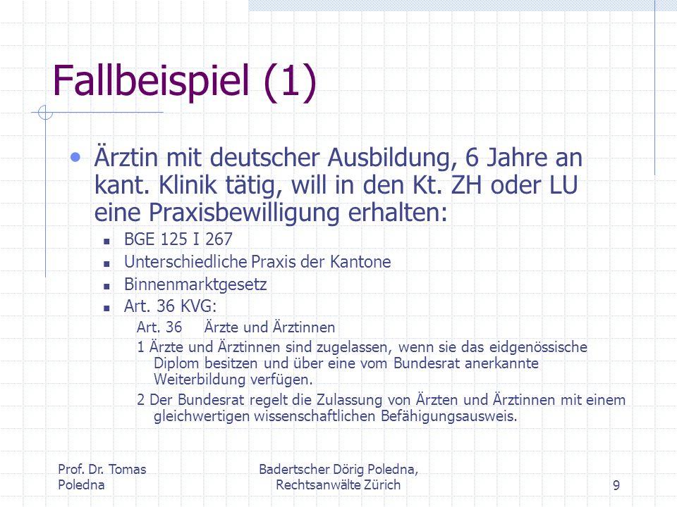 Badertscher Dörig Poledna, Rechtsanwälte Zürich