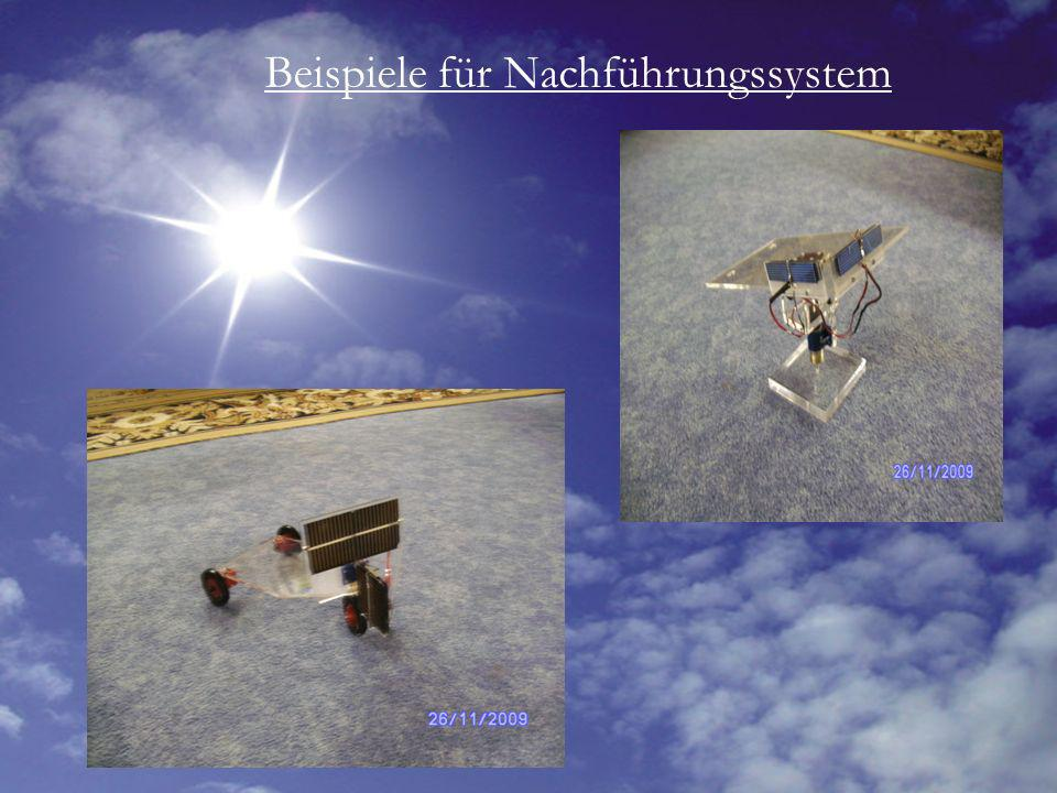 Beispiele für Nachführungssystem