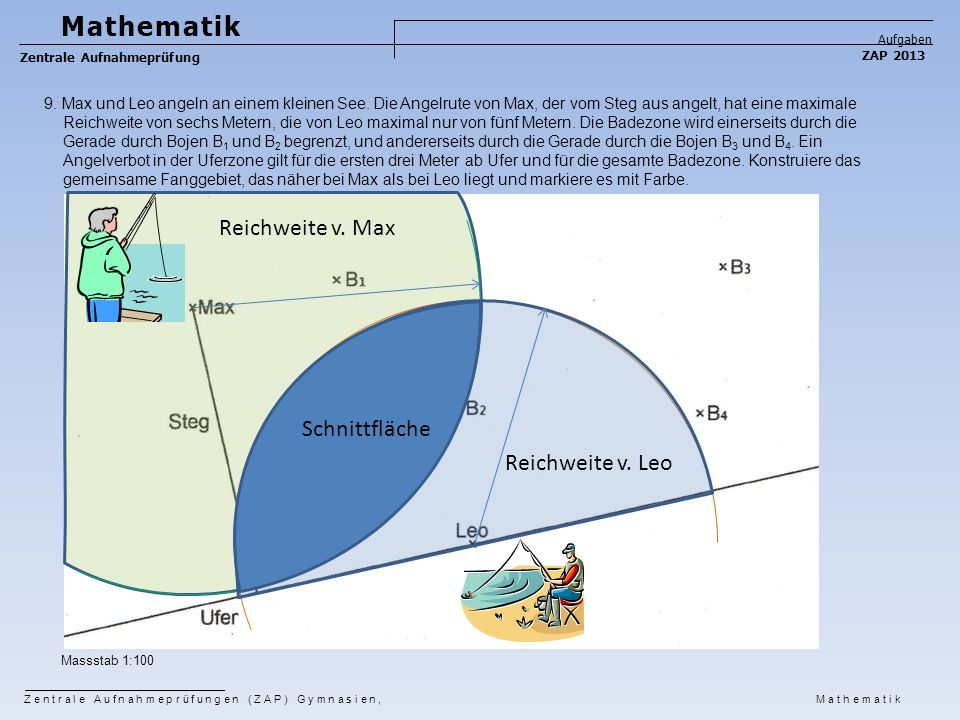 Mathematik Reichweite v. Max Schnittfläche Reichweite v. Leo