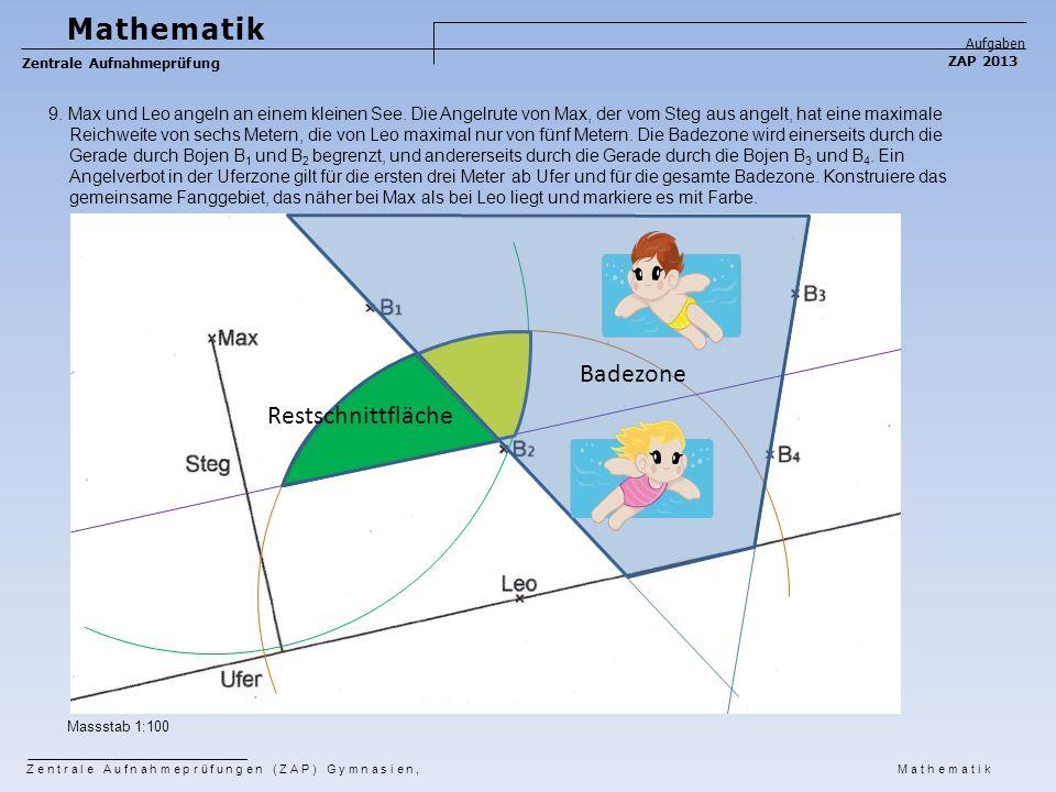 Mathematik Badezone Restschnittfläche