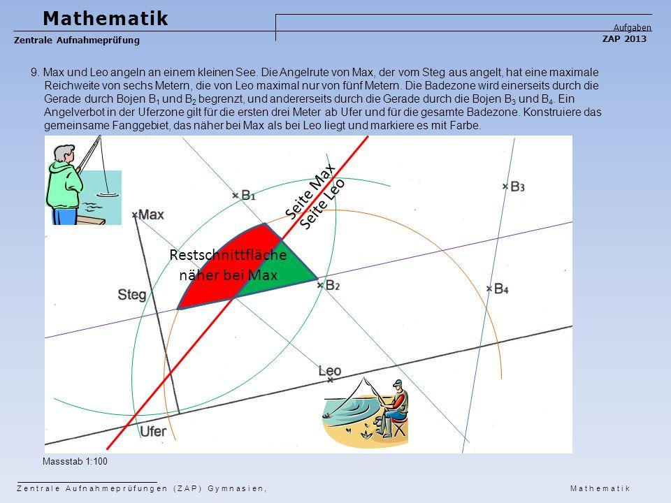Mathematik Seite Max Seite Leo Restschnittfläche näher bei Max