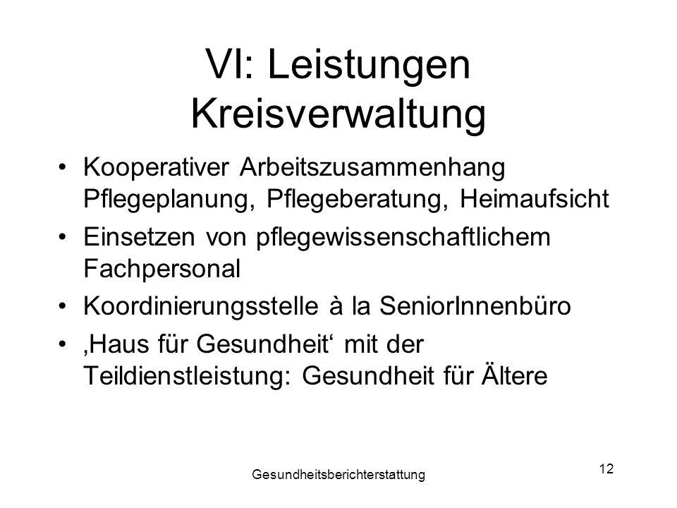 VI: Leistungen Kreisverwaltung