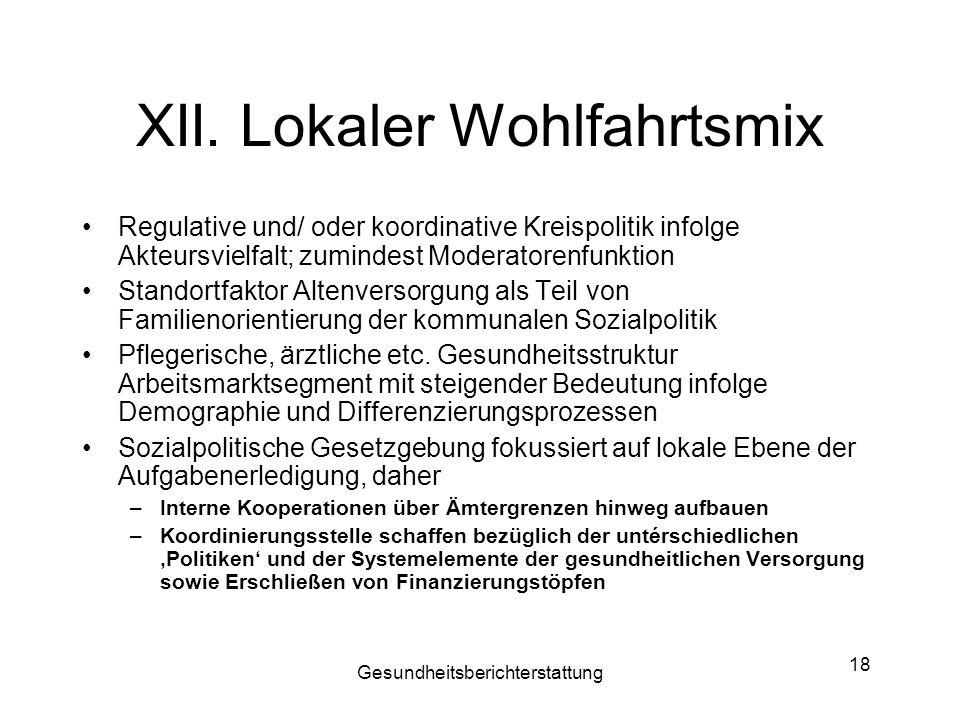 XII. Lokaler Wohlfahrtsmix