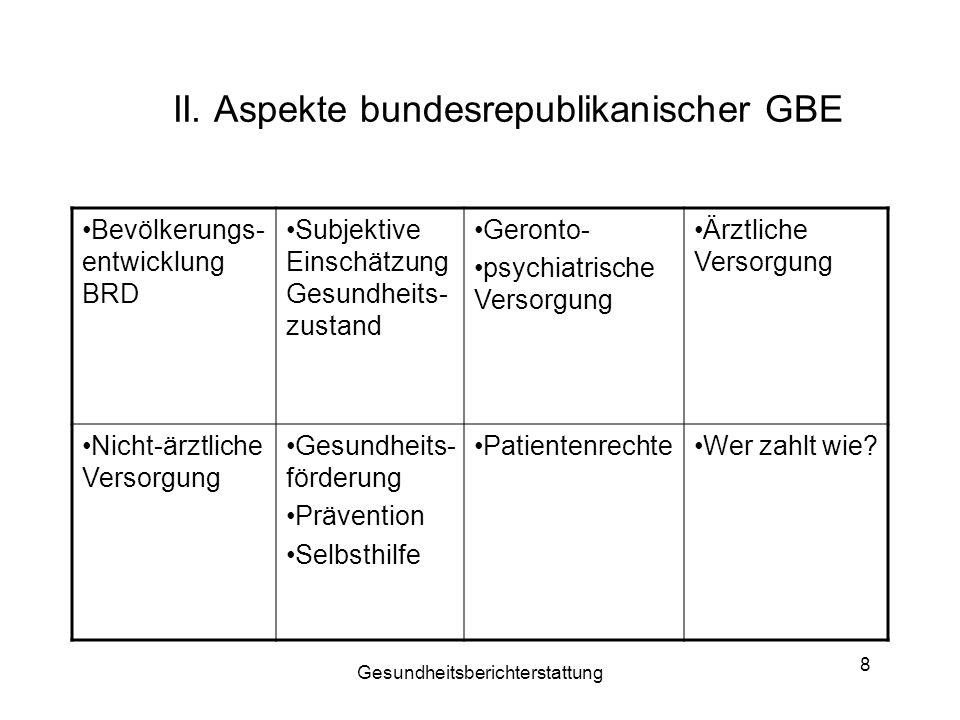 II. Aspekte bundesrepublikanischer GBE