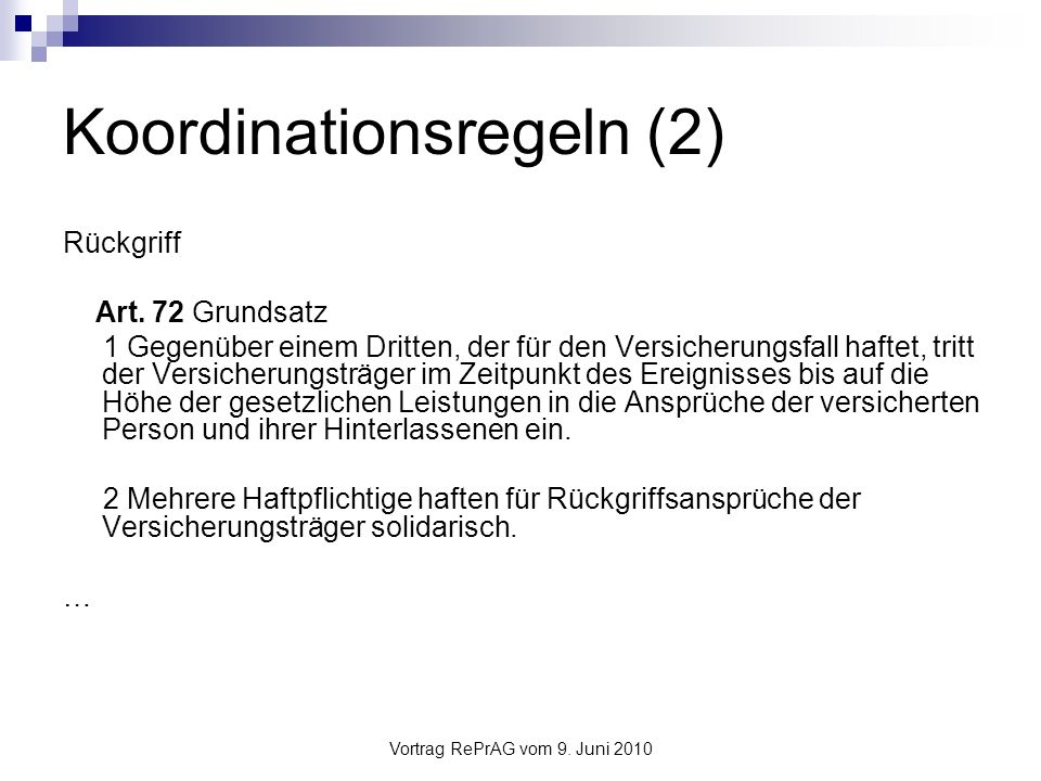 Koordinationsregeln (2)